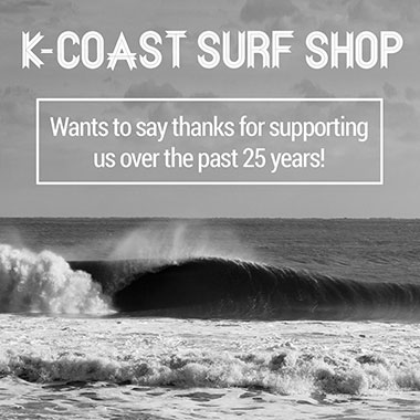 K-Coast wants to say thanks for supporting us over the past 25 years.